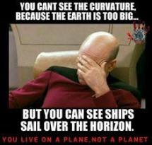 can't see curvature - but ships sail over it