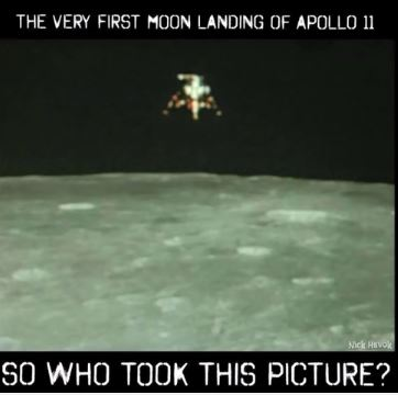 first moon landing - who took photo