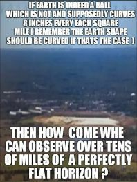 no curve - 10 miles of flat horizon