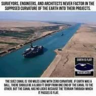 Suez Canal - no locks, no curve